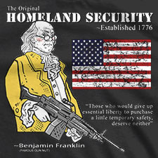 THE ORIGINAL HOMELAND SECURITY BEN FRANKLIN