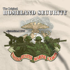 THE ORIGINAL HOMELAND SECURITY US MARINE CORPS